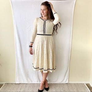 Cream Lace Dress. Belt not included